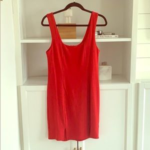 South Moon Under Red Form Fitting Dress